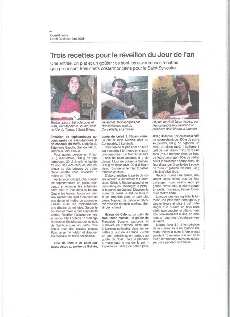 Ouest France 29-12-2008