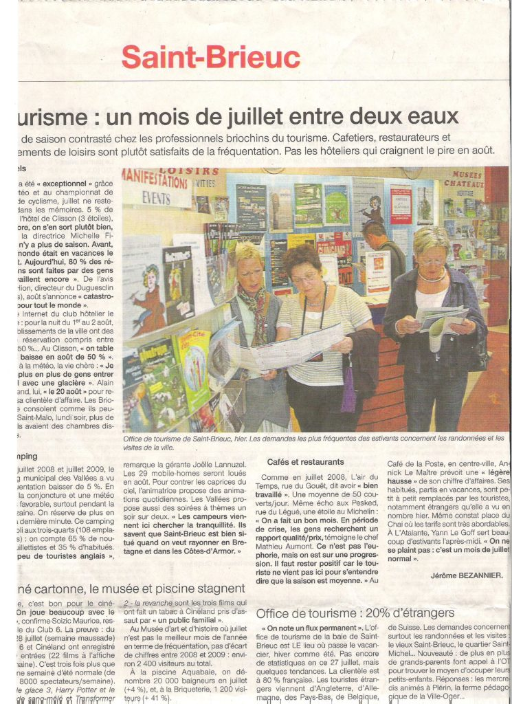 Ouest France 30-07-2009